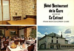 N°79021 -cpsm Hôtel De La Gare -annexe Le Catinat -Montdauphin- - Hotels & Gaststätten
