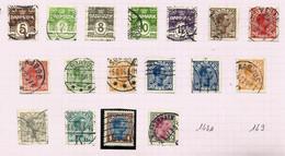 Danemark N°132 à 148 Cote 38 Euros - Oblitérés