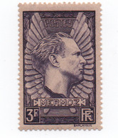 FRANCE - 1937 - N++ - Mermoz - 3 Frs  Lilas  -  Cat Yvert N° 338 -   Exc état - Neufs