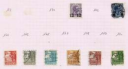 Danemark N°171, 173 Cote 16.25 Euros (181 à 186 Offerts) - Oblitérés