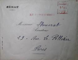 G 4 1944 Lettre Entete Sénat - Guerre De 1939-45