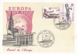 CP Affr Y&T 1789 + 1790 Obl STRASBOURG CONSEIL DE L'EUROPE Du 20.4.1974 EUROPA - Alsace Lorraine