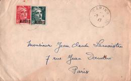 LETTRE DEPART  BARIKA 1947 POUR PARIS - Non Classés