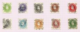 Danemark N°197 à 206 Cote 40 Euros - Oblitérés