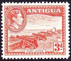 ANTIGUA 1938 KGVI 3d Orange SG105 MH - 1858-1960 Kronenkolonie