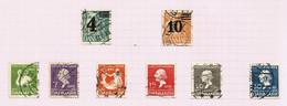 Danemark N°227 à 234 Cote 7.75 Euros - Oblitérés
