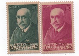 France - 1938/39 - N++ - Chomeurs Int. -Charcot  -2 Timbres   -Yvert N° 377-78  Bon état - Neufs