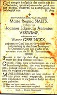 SMETS Maria Regina X VERWIMP Joannes ° Geel 1897 + Oosterlo Gheel 1947 - Religion & Esotericism