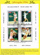 [C0132] DPR Corea 1986; HB Campeones De Tenis (CTO) - Corea Del Norte