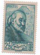 France - 1939 - N++ - Paul Cézanne-   2.25 Frs  Bleu-vert    -Yvert N° 421    Bon état - Neufs
