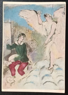 FD2 - France 1968 Postcard Of A Painting Of MARK CHAGALL Sent From PARIS 110 FOUR To Beirut Lebanon - Reims