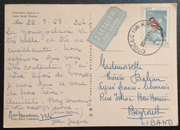 FD2 - Yugoslavia Liubiiljana Beautiful 1981 Postcard Sent Air Mail To Beirut Lebanon, Bird Stamp - Líbano