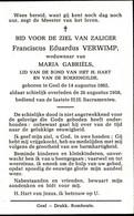 VERWIMP Franciscus X GABRIELS Maria ° Geel 1876 + 1958 Gheel - Religion & Esotericism