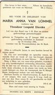 VAN LOMMEL Maria Anna X DIERCKX Theodoor  ° Tongerloo 1868 + Zammel Gheel 1941 - Tongerlo Westerlo Geel - Religion & Esotericism