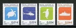 TAAF 2015  N° 742/745 ** Neufs MNH Superbes Faune Oiseaux Tortue Bateaux Hélicoptère Birds Animaux Transports Turtles - Neufs