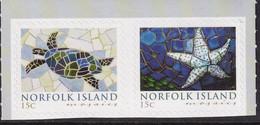 Norfolk Island 2009 Mosaics Booklet Sc 968-69 Mint Never Hinged - Norfolkinsel