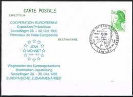 [C0133] Francia 1988; Enteropostal Exp. Filatélica Sindelfingen 88 (CTO) - Autres