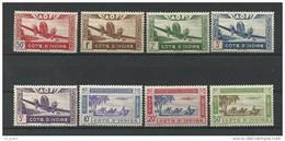 """Cote Ivoire Aerien YT 10 à 17 (PA) """" Série Complète """" 1942 Neuf** - Neufs"""