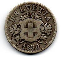 Suisse - 20 Rappen 1850 BB - TB - Schweiz
