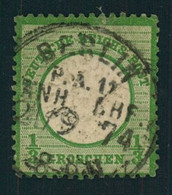 """1872, 1/3 Groschen Großer Brustscilld, Dunkelgrün Gestempelt """"BERLIN P.A. 11 ANH. BHF."""", Geprüft - Oblitérés"""