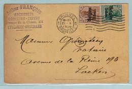 Reich, S.S. Brussel 20.10.1916 Naar Laeken, Arthur Francois Architecte Naar Notaris Groensteen - Entiers Postaux