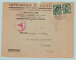 Reich, S.S. Brussel 14.11.1941 E. Guyot Naar Banque De France In Poitiers - Entiers Postaux