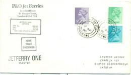Enveloppe P&O Jet Ferries Jetferry One London Paquebot - Sonstige