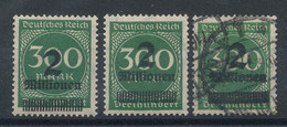 Allemagne N°282 (o) X3 (voir Surcharges) - Variétés