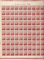 1937 TANGER  EDIFIL 91** PLIEGO COMPLETO DE 100 VALOR DE CATALOGO 140 EUROS - Maroc Espagnol
