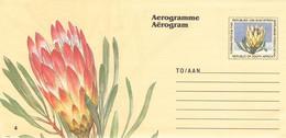SOUTH AFRICA - AEROGRAMME FLOWER  Unc //QD3 - Poste Aérienne