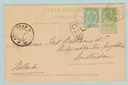 Nieuwpoort Naar Amsterdam , Bastiaens, Nieuwpoort -Bains 23.07.1902 - Documents De La Poste
