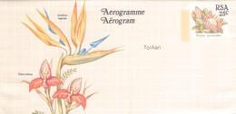 SOUTH AFRICA - AEROGRAMME FLOWER 25 CENT Unc //QD6 - Poste Aérienne