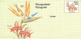 SOUTH AFRICA - AEROGRAMME FLOWER 21 CENT Unc //QD8 - Poste Aérienne