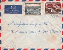 JOLIE LETTRE PAR AVION / CONGO / TRES BEAU CACHET POINTE NOIRE 1958 - Briefe U. Dokumente