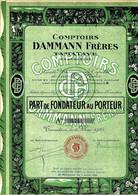 VOIR HISTORIQUE Thé De Tous Les Continents 1925 COMPTOIRS DAMMANN FRERES Tamatave Madagascar B.E. VOIR SCAN - Agricoltura