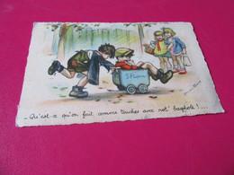 Cpa Germaine Bouret  Circulée 1942 Edit Hamel Qu Est Ce Qu On Fait Comme Touches Bagnole Tad Soudan Loire Atlantique - Bouret, Germaine