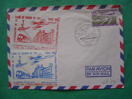Concorde -- PARIS -- Inauguration Ligne Paris Nord - Aéroport Charles De Gaulle - 2 Vignettes Cheminots Philatelistes - Matasellos Provisorios