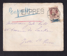 DDY 772 -- Enveloppe Avec Contenu En EXPRES TP Grosse Barbe Télégraphique HEYST 1907 Vers RARE Télégraphique JETTE Bleu - 1905 Grosse Barbe