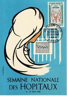 CM FRANCE 1962 SEMAINE NATIONALE DES HOPITAUX - 1960-69