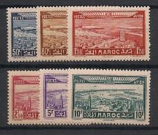 Maroc - 1933 - Poste Aérienne PA N°Yv. 34 à 39 - Série Complète - Neuf * / MH VF - Luchtpost
