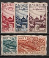 Maroc - 1947 - Poste Aérienne PA N°Yv. 60 à 64 - Série Complète - Neuf * / MH VF - Poste Aérienne