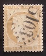 CERES No 55, 15 C Bistre Obl GC 5103 Bureau De VARNA, Turquie , Indice 21, TB - 1871-1875 Cérès
