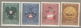 AUSTRIA OSTERREICH Coat Of Arms 1949 MNH (**) Mi 937-940 #21655 - 1945-60 Neufs