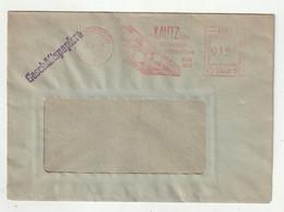 """Saarland - 1953 - Brief Freistempel """"KAUTZ-Eisenwaren Saarbruecken"""" (1638) - Usados"""