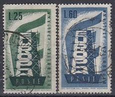 ITALY 973-974,used - 1946-60: Gebraucht