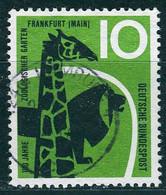 BRD - Mi 288 ⨀ (A) - 10Pf           100 Jahre Zoo Frankfurt - Oblitérés