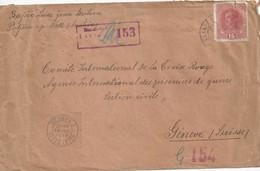 Zensur Brief  Veglia - Croix Rouge Genève           1918 - Lettres & Documents
