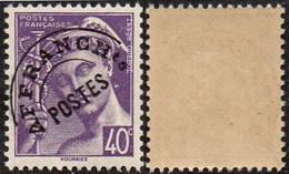 """France Mercure Préoblitéré N°  81 ** Le 40c Violet. Légende """"Postes Françaises"""" - 1938-42 Mercure"""