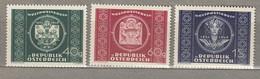 AUSTRIA OSTERREICH 1949 MNH (**) Mi 943-945 #21663 - 1945-60 Neufs