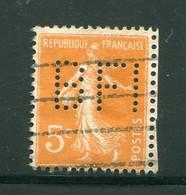 FRANCE- Perforé Y&T N°158- Oblitéré - Gezähnt (Perforiert/Gezähnt)